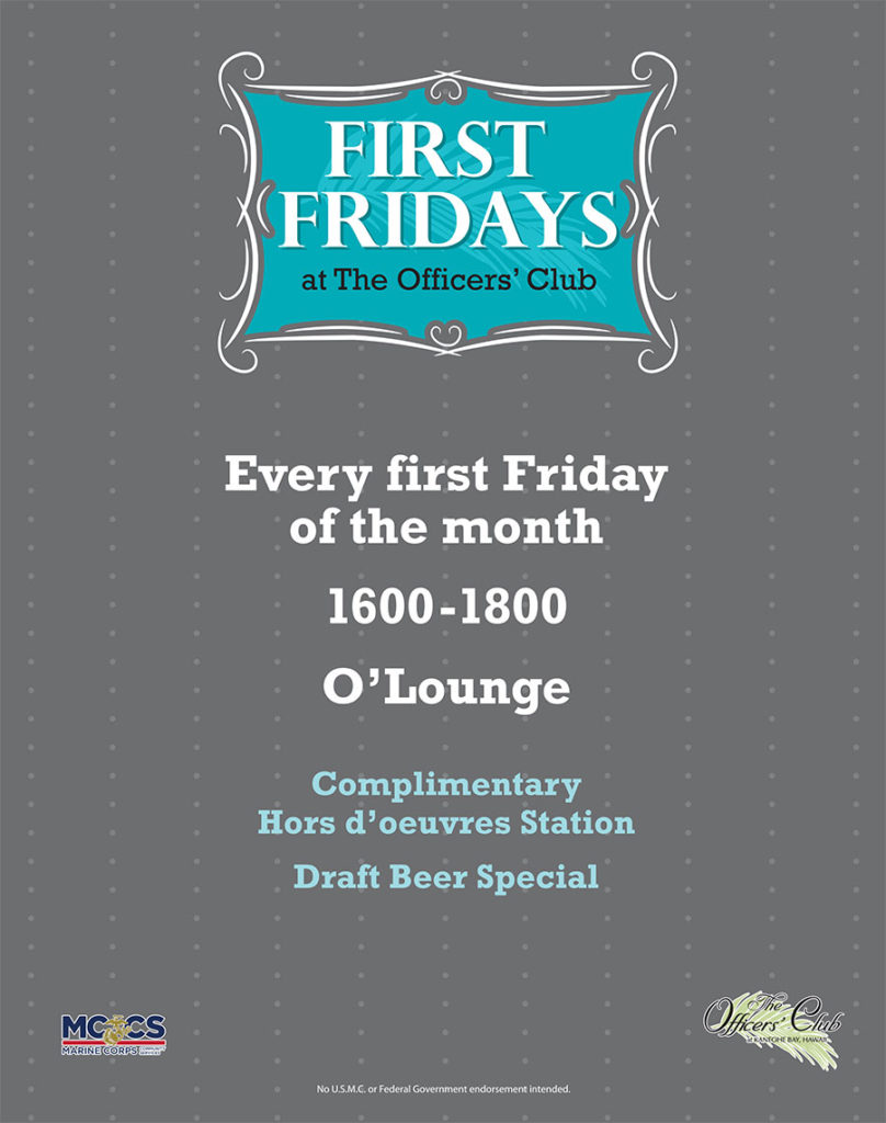 First Fridays @ The Officers' Club O'Lounge