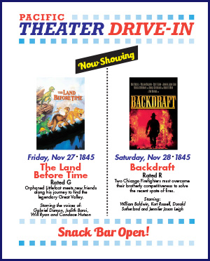 Pacific Theater Drive In Movie Listing