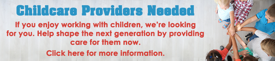 Now hiring Childcare Providers